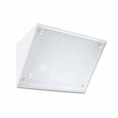 Leds-C4 CURIE GLASS 05-9884-14-CL kültéri fali led lámpa fehér fehér alumínium üveg