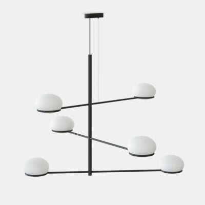 Leds-C4 Coco Chandelier 00-7986-05-M1 modern csillár fekete fehér