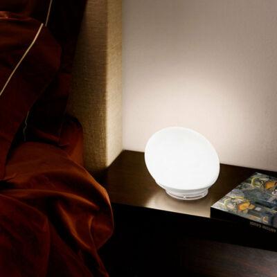 LineaLight GOCCIA 7243 asztali lámpa  fehér   üveg