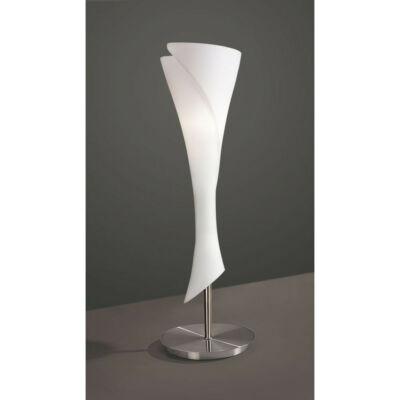 Mantra ZACK 0774 asztali lámpa szatinált nikkel opál fém üveg
