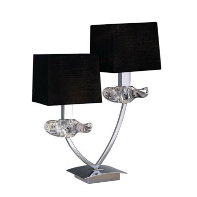 Mantra AKIRA CHROME BLACK SHADE 0790 asztali lámpa króm fekete fém szövet