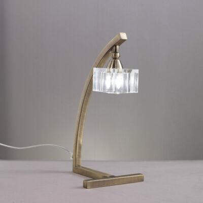 Mantra CUADRAX 1104 asztali lámpa sárgaréz fém üveg