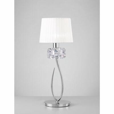 Mantra LOEWE CROMO 4636 asztali lámpa króm fehér fém textil
