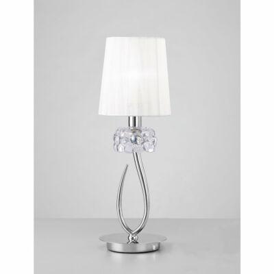 Mantra LOEWE CROMO 4637 asztali lámpa króm fehér fém textil