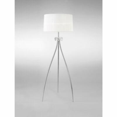 Mantra LOEWE CROMO 4638 állólámpa króm fehér fém textil