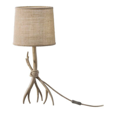 Mantra SABINA 6181 asztali lámpa fa barna fém szövet