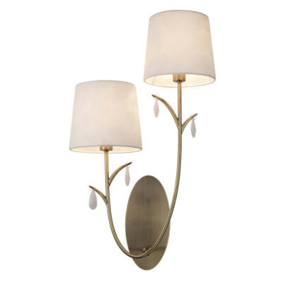 Mantra ANDREA ANTIQUE BRASS 6336 fali lámpa antik réz fehér fém szövet