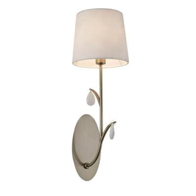Mantra ANDREA ANTIQUE BRASS 6337 fali lámpa antik réz fehér fém szövet