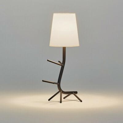 Mantra Centipede 7251 éjjeli asztali lámpa fekete fehér fém szövet