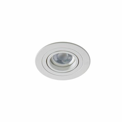 Azzardo 2430 Álmennyezetbe építhető lámpa Caro fehér alumínium
