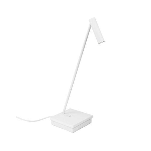 Leds-C4 ELAMP 10-7607-14-14 Éjjeli asztali lámpa fehér alumínium