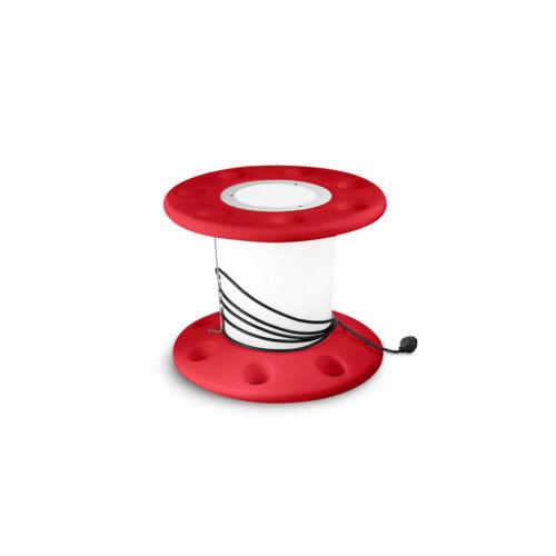 LineaLight REELY OUT 7675 Asztali lámpa piros műanyag