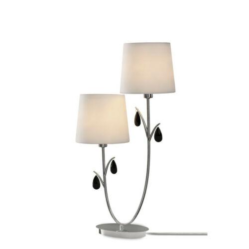 Mantra ANDREA CHROME 6318 Asztali lámpa  króm   fehér   fém   szövet