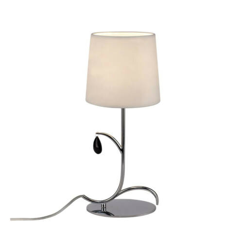 Mantra ANDREA CHROME 6319 Asztali lámpa  króm   fehér   fém   szövet
