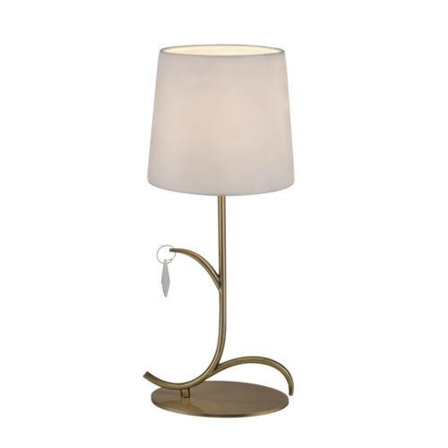 Mantra ANDREA ANTIQUE BRASS 6339 Asztali lámpa antik réz fehér fém szövet