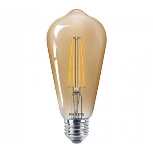 Philips CLA LEDBulb D 8-50W ST64 E27 822 GOLD 81435200 LED izzó E27 arany