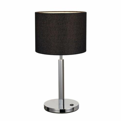SLV TENORA 156040 Asztali lámpa  króm   fekete   acél   textil