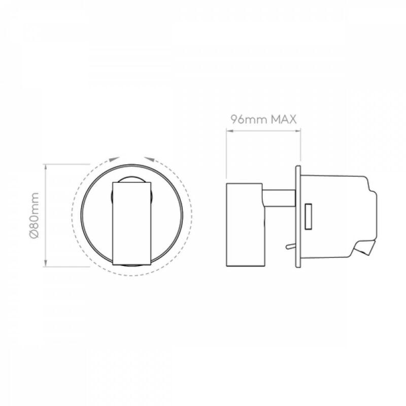 Astro Micro 1407009 fali olvasólámpa  bronz