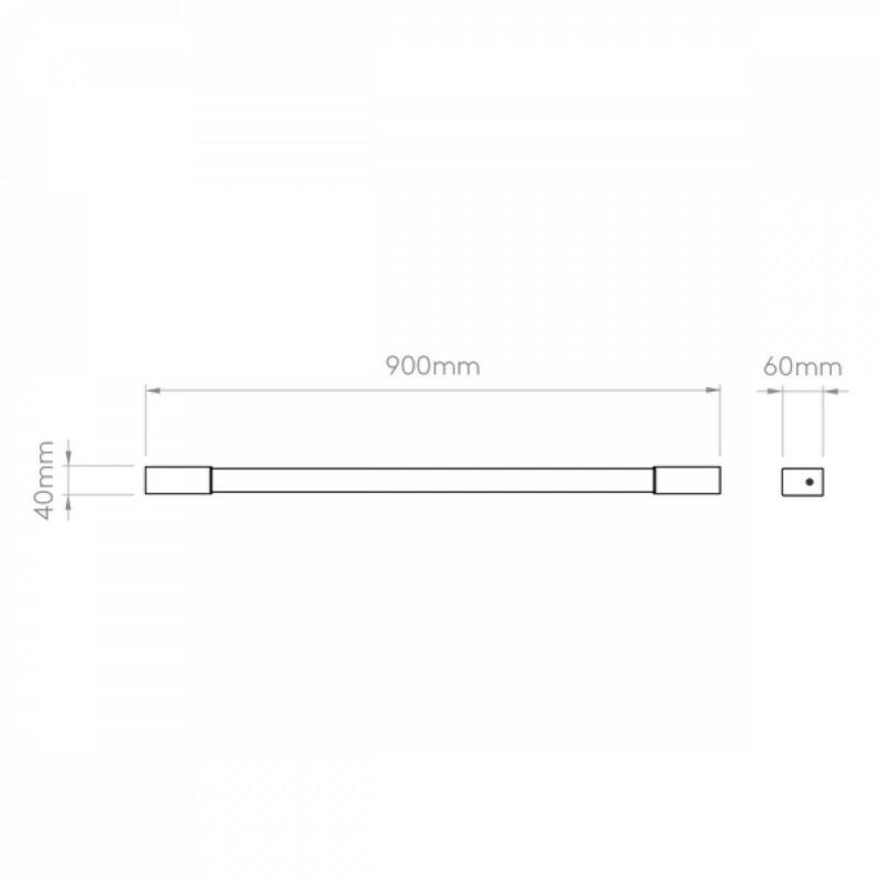 Astro Romano 1150016 fürdőszoba fali lámpa  króm   fehér   fém   műanyag
