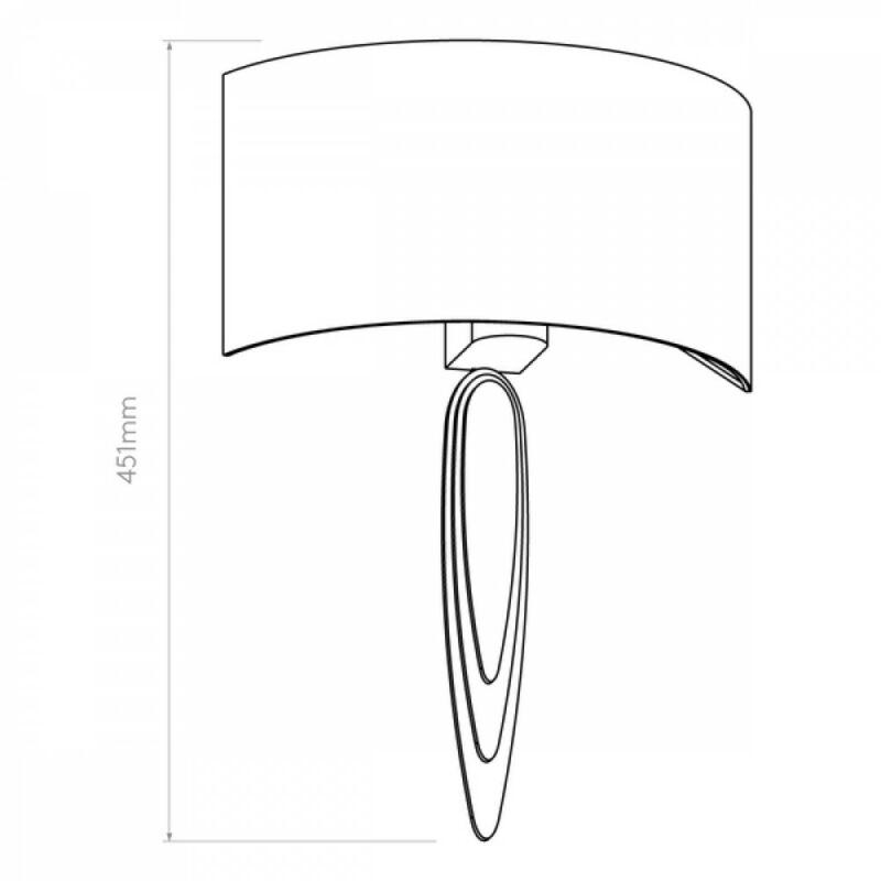 Astro 1385002 fali lámpa króm fém