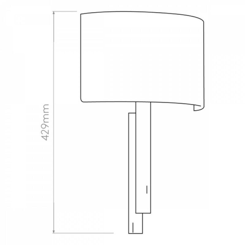 Astro Tate 1334007 fali lámpa bronz