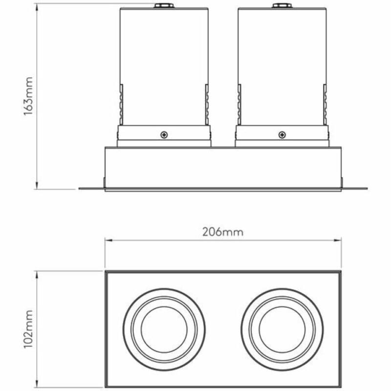 Astro Trimless 1248008 álmennyezetbe építhető lámpa fehér fém