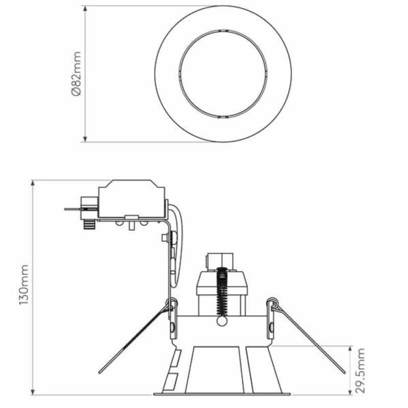 Astro Minima 1249002 álmennyezetbe építhető lámpa fehér fém