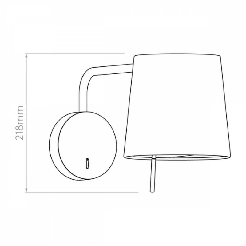 Astro Mitsu 1394002 fali olvasólámpa  bronz   bronz