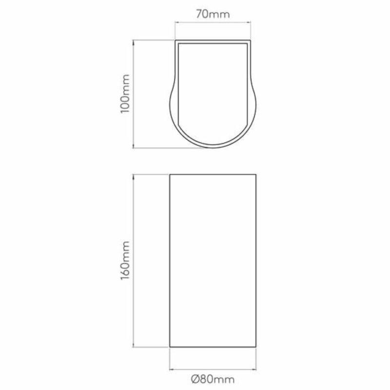 Astro Dunbar 1384002 kültéri fali led lámpa  fehér   fém