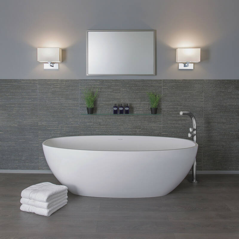 Astro 1080022 fürdőszoba fali lámpa  matt nikkel   fekete   fém   textil