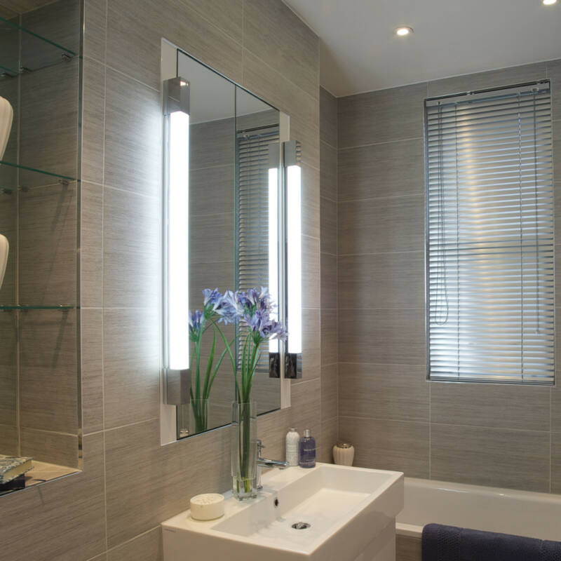 Astro Romano 1150004 fürdőszoba fali lámpa króm fehér fém