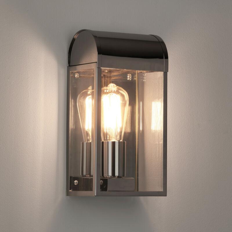 Astro Newbury 1339002 kültéri fali lámpa  nikkel   átlátszó   fém