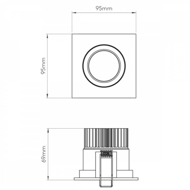 Astro Aprilia Square LED 1256021 álmennyezetbe építhető lámpa fehér fém