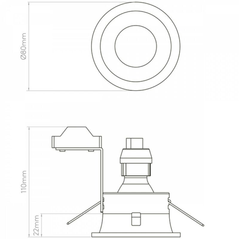 Astro Minima 1249017 álmennyezetbe építhető lámpa  fekete   fém
