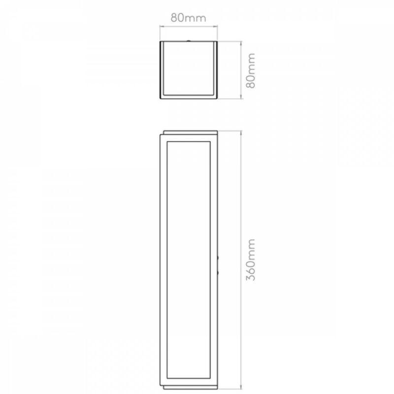 Astro Mashiko 1121018 fürdőszoba fali lámpa króm fehér fém