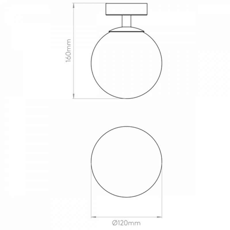 Astro Denver 1038001 fürdőszoba mennyezeti lámpa króm fehér fém