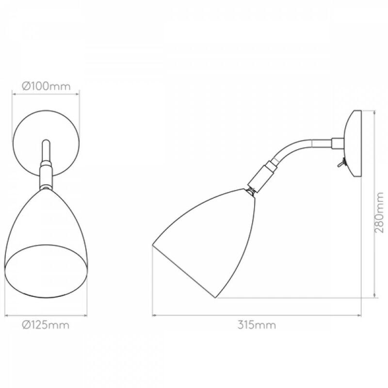 Astro Joel 1223015 fali olvasólámpa  krém   krém   fém