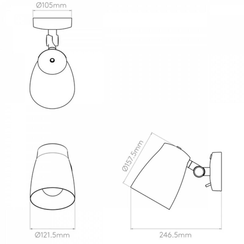 Astro Atelier 1224012 falikar  fehér   fehér   fém