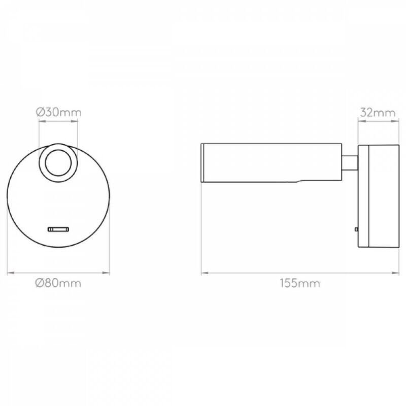 Astro Enna 1058013 fali olvasólámpa  matt nikkel   fém