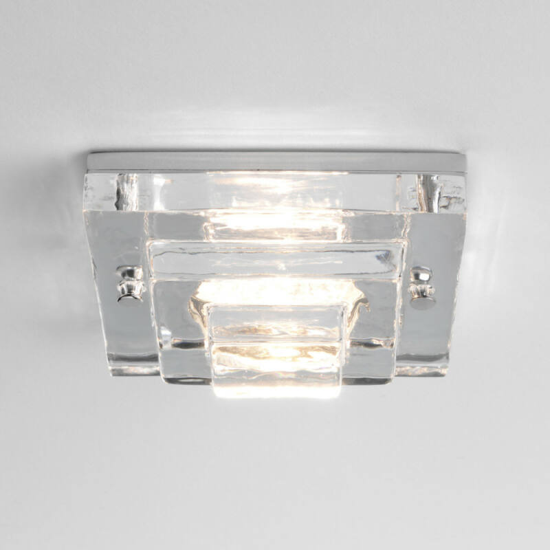 Astro Frascati 1225004 álmennyezetbe építhető lámpa króm átlátszó fém
