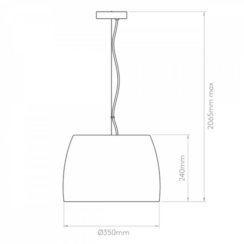Astro Nimis 1346001 étkező lámpa króm fehér üveg