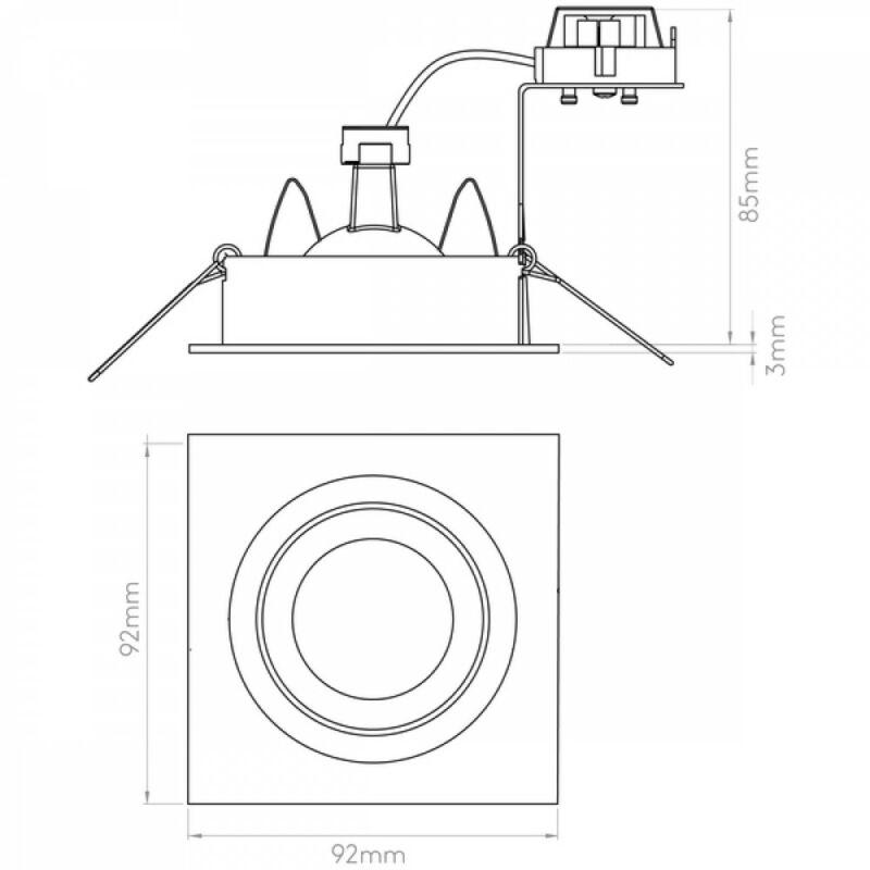 Astro Taro 1240012 álmennyezetbe építhető lámpa alumínium fém