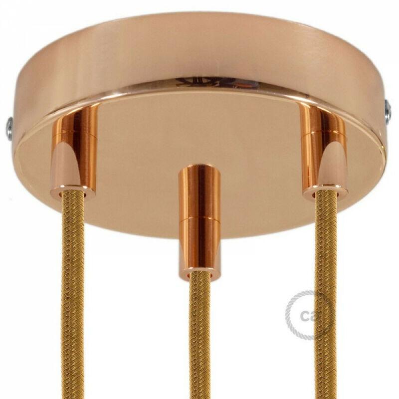 Creative-Cables 3 holes copper ceiling rose KRM573FRATERM mennyezeti rózsa