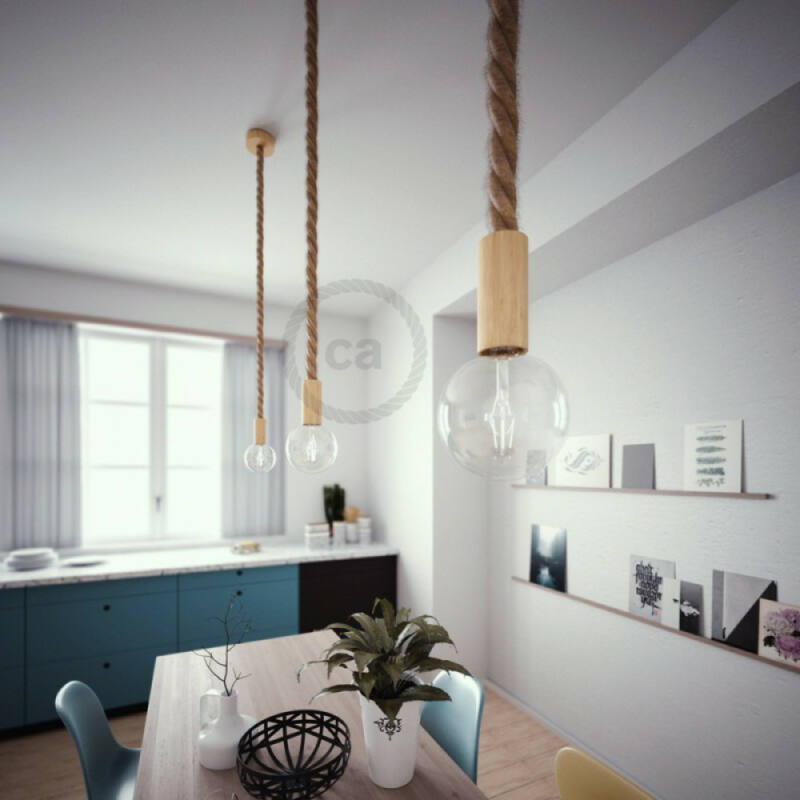 Creative-Cables Wooden ceiling rose kit for 3XL cord KRL0130 mennyezeti rózsa  bükk   fa