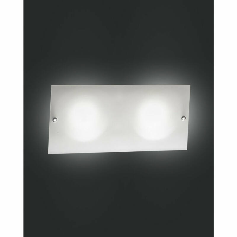 Fabas Luce LOWELL 3086-21-102 fali lámpa  szatinált nikkel   fehér   fém   üveg