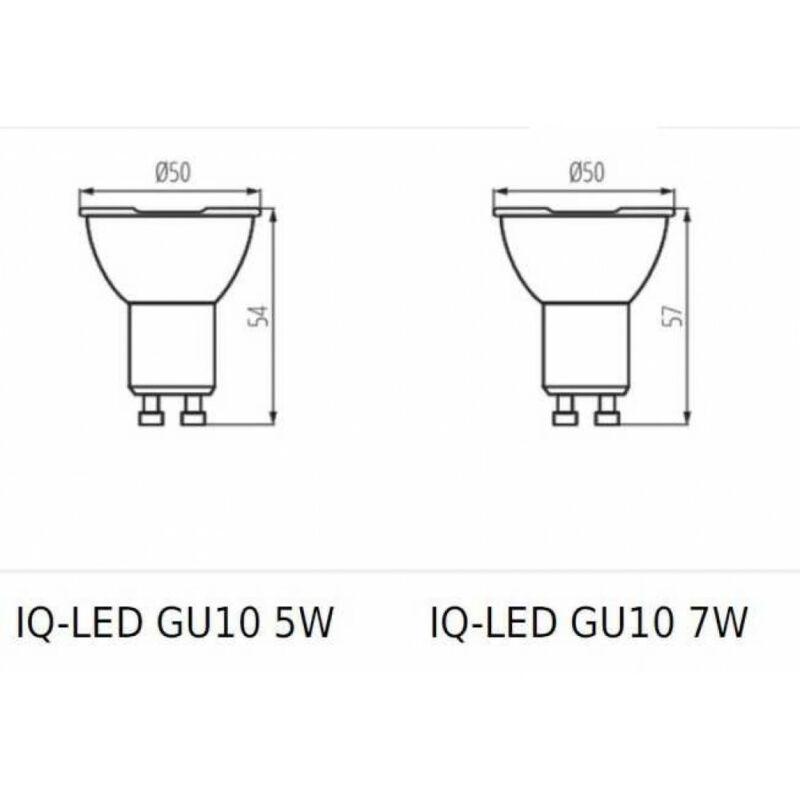 Kanlux IQ-LED GU10 7W-WW 29809 led izzó gu10  ezüst