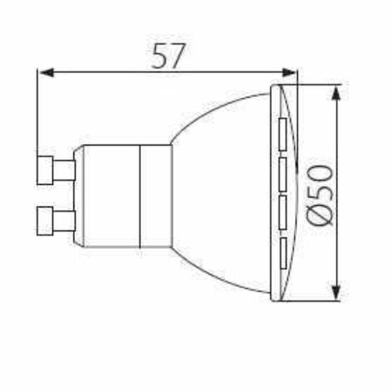 Kanlux MIO GU10 LED N 6W-WW 31010 led izzó gu10 fehér