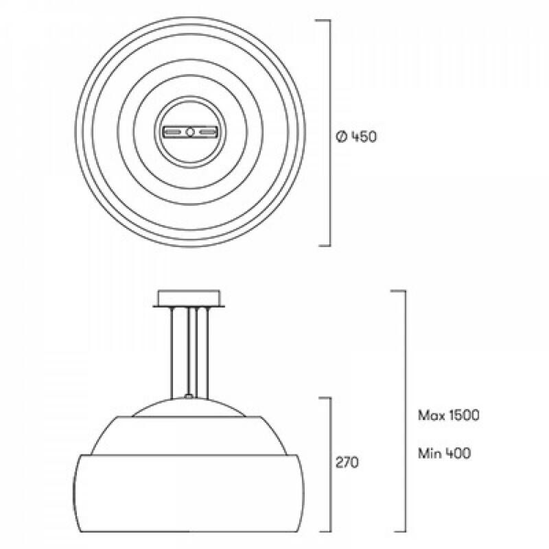 Leds-C4 BALLOONS 00-4348-21-F9 modern függeszték  króm   króm   acél   acél