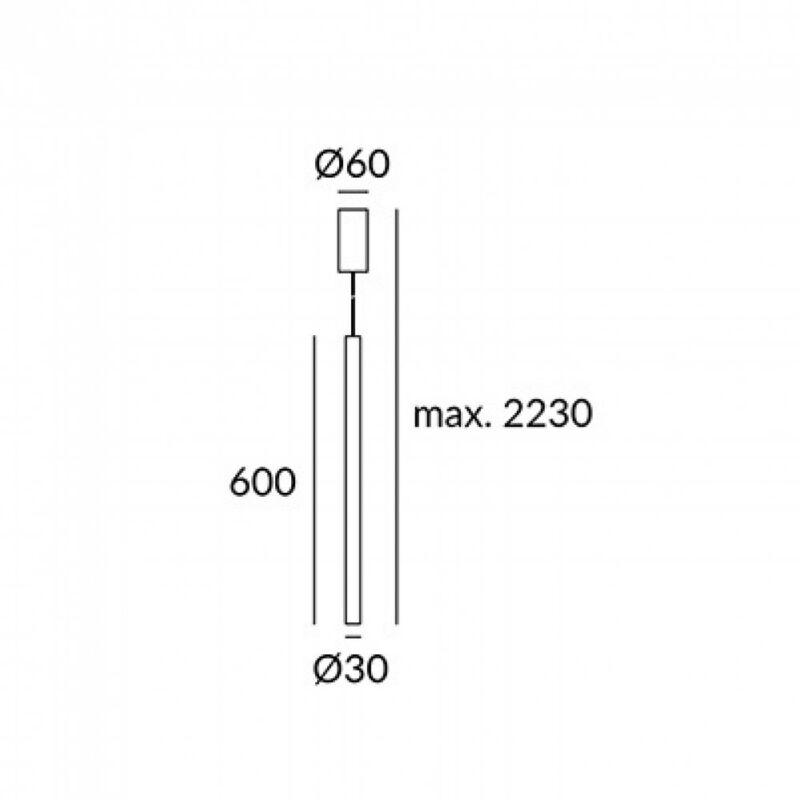 Leds-C4 STYLUS 00-5479-05-05 led függeszték  fekete   alumínium