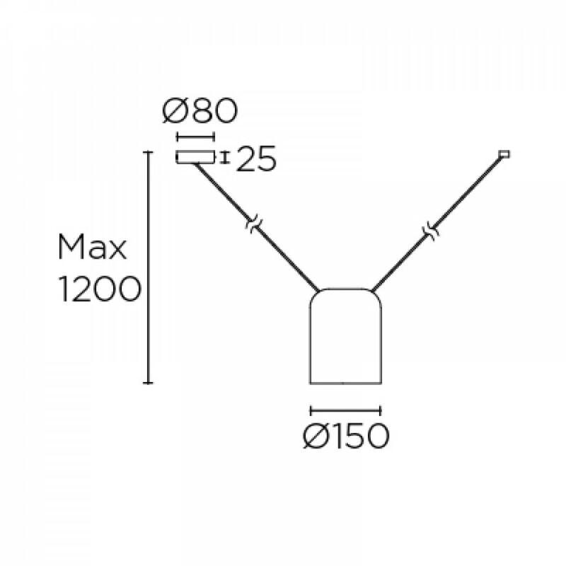 Leds-C4 ATTIC 00-7392-05-05 modern függeszték  fekete   fekete   alumínium   alumínium